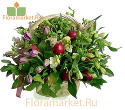 Цветочная корзина «Фанфан-тюльпан»