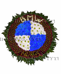 Логотипы из живых цветов