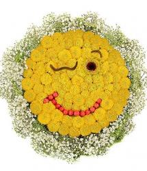 Цветочный смайлик Озорной